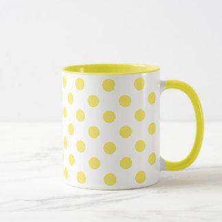 Maize Yellow Polka Dots Circles Mug