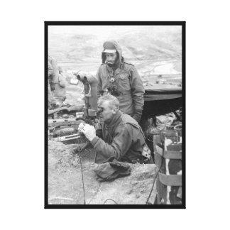 Maj. Gen. Frank Lowe, USA_War Image Canvas Print