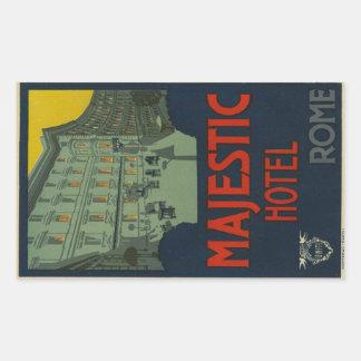 Majectic Rome Hotel Rectangular Sticker