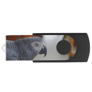 Majestic African Grey Parrot Swivel USB 3.0 Flash Drive