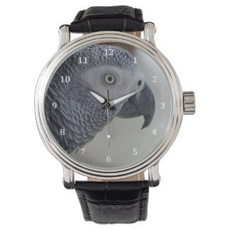 Majestic African Grey Parrot Wrist Watch