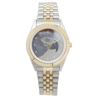 Majestic African Grey Parrot Wristwatch