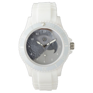 Majestic African Grey Parrot Wristwatches