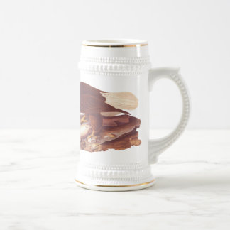 Majestic Bald Eagle by Audubon with Fresh Fish Beer Stein