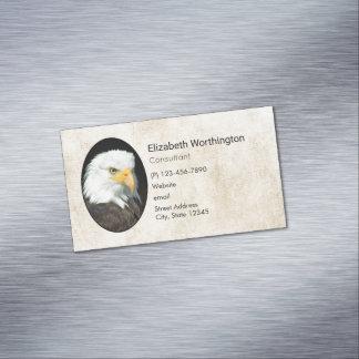 Majestic Bald Eagle Portrait Magnetic Business Card