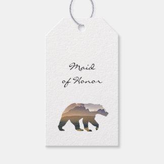 Majestic Bear Wedding Escort Card Gift Tags