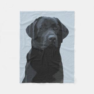Majestic Black Labrador Fleece Blanket