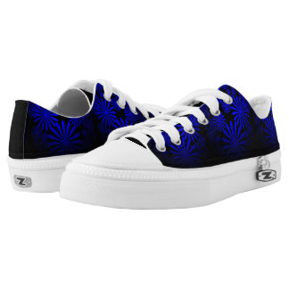 Majestic Blue Flowers Printed Shoes