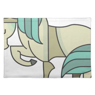 Majestic Blue Unicorn Placemat