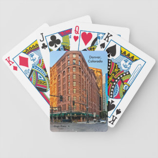 Majestic Brown Palace Hotel At Sunset, Denver, CO Bicycle Playing Cards