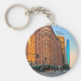 Majestic Brown Palace Hotel At Sunset, Denver, CO Key Ring