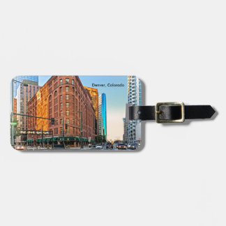 Majestic Brown Palace Hotel At Sunset, Denver, CO Luggage Tag