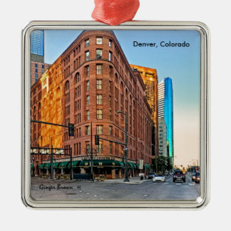 Majestic Brown Palace Hotel At Sunset, Denver, CO Metal Ornament