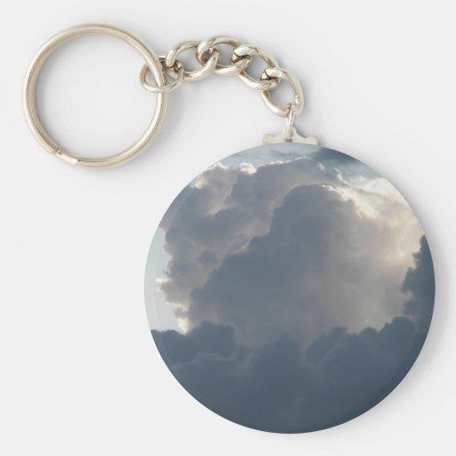 Majestic clouds key chain