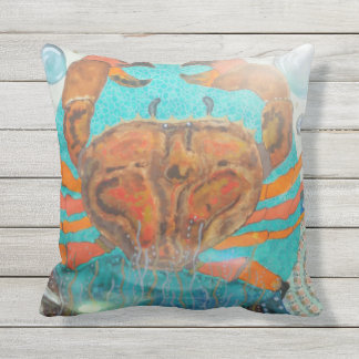 Majestic crab throw pillow
