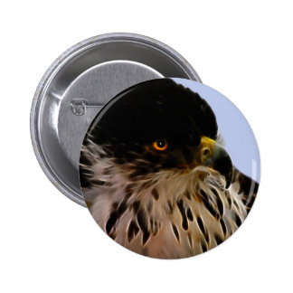 Majestic eagle 6 cm round badge