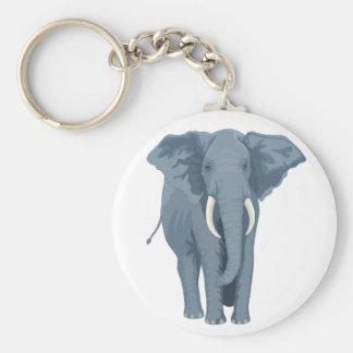 Majestic Elephant Basic Round Button Key Ring