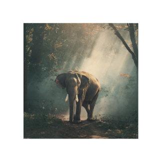 Majestic Elephant Wood Wall Decor