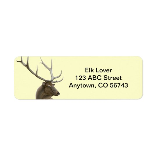 Majestic Elk Buck Customisable Return Address Label