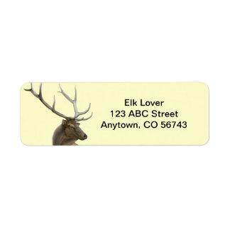 Majestic Elk Buck Customizable Return Address Label