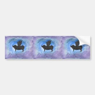 Majestic Flying Pig Bumper Sticker