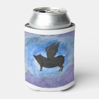 Majestic Flying Pig Can Cooler