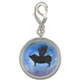 Majestic Flying Pig Charm