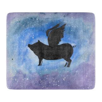 Majestic Flying Pig Cutting Board