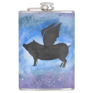 Majestic Flying Pig Flask