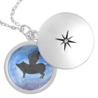 Majestic Flying Pig Locket