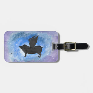 Majestic Flying Pig Luggage Tag