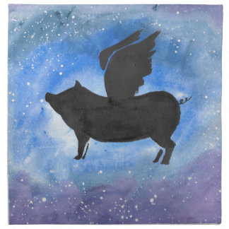 Majestic Flying Pig Napkin