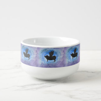 Majestic Flying Pig Soup Mug