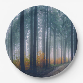 Majestic Forest Path 9 Inch Paper Plate