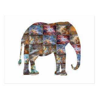 Majestic Friendly Animal : Elephant Marble Tiles Postcard