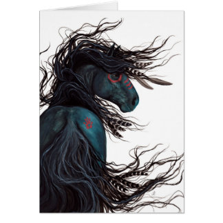Majestic Friesian Horse Art by BiHrLe Card