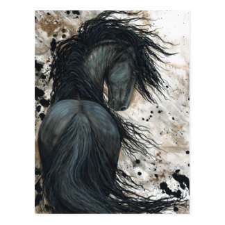 Majestic Friesian Horse by Bihrle Postcard