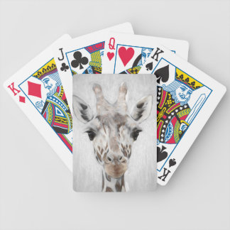 Majestic Giraffe Portrayed multiproduct selected Bicycle Playing Cards