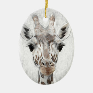 Majestic Giraffe Portrayed multiproduct selected Ceramic Oval Decoration