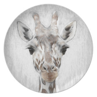 Majestic Giraffe Portrayed multiproduct selected Party Plate