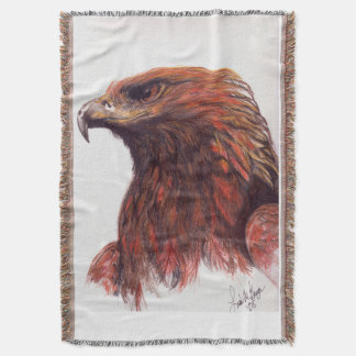 Majestic Golden Eagle Throw Blanket