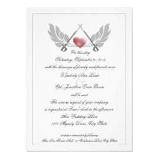Majestic Guarded Heart Wedding 14 Cm X 19 Cm Invitation Card