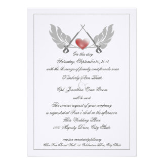 Majestic Guarded Heart Wedding Custom Invite