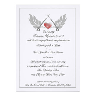 Majestic Guarded Heart Wedding Personalized Invites