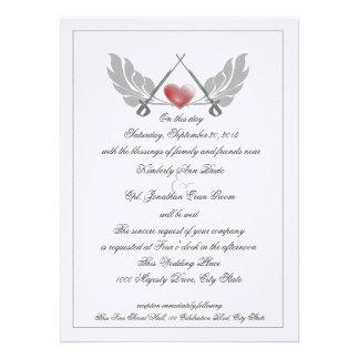 Majestic Guarded Heart Wedding Personalized Invites
