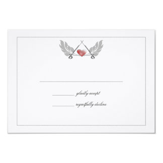 Majestic Guarded Heart Wedding Response Card