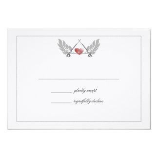 Majestic Guarded Heart Wedding Response Card 9 Cm X 13 Cm Invitation Card