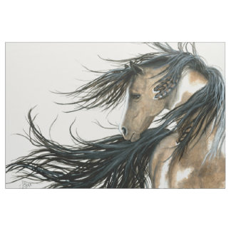 Majestic Horse Pinto by Bihrle Fabric