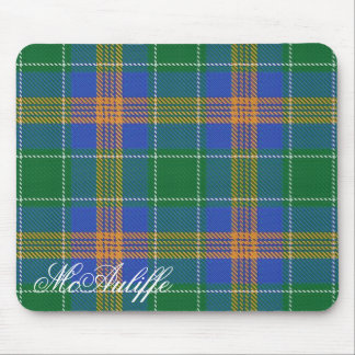 Majestic Irish Clan MacAuliffe Tartan Mouse Pad