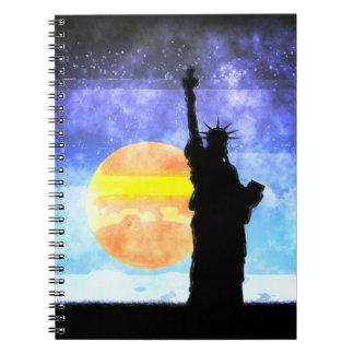Majestic Lady Liberty Spiral Notebook